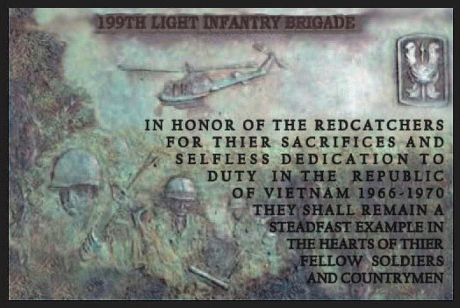 199th LIGHT INFANTRY BRIGADE - DEDICATION AWARD