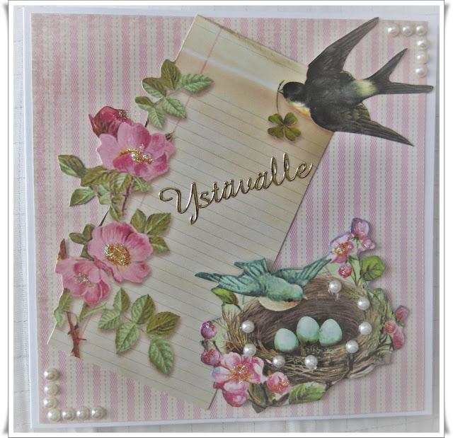 Dekorette, KORTIT, korttiaskartelu, Nauhataivas, onnittelut, Pandurohobby, paperiaskartelu, tilda, ystävänpäivä, ystävänpäiväkortti,
