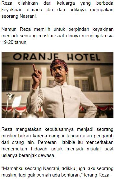 Ternyata Aktor Ganteng Sudah Pindah Agama, ini Keyakinan