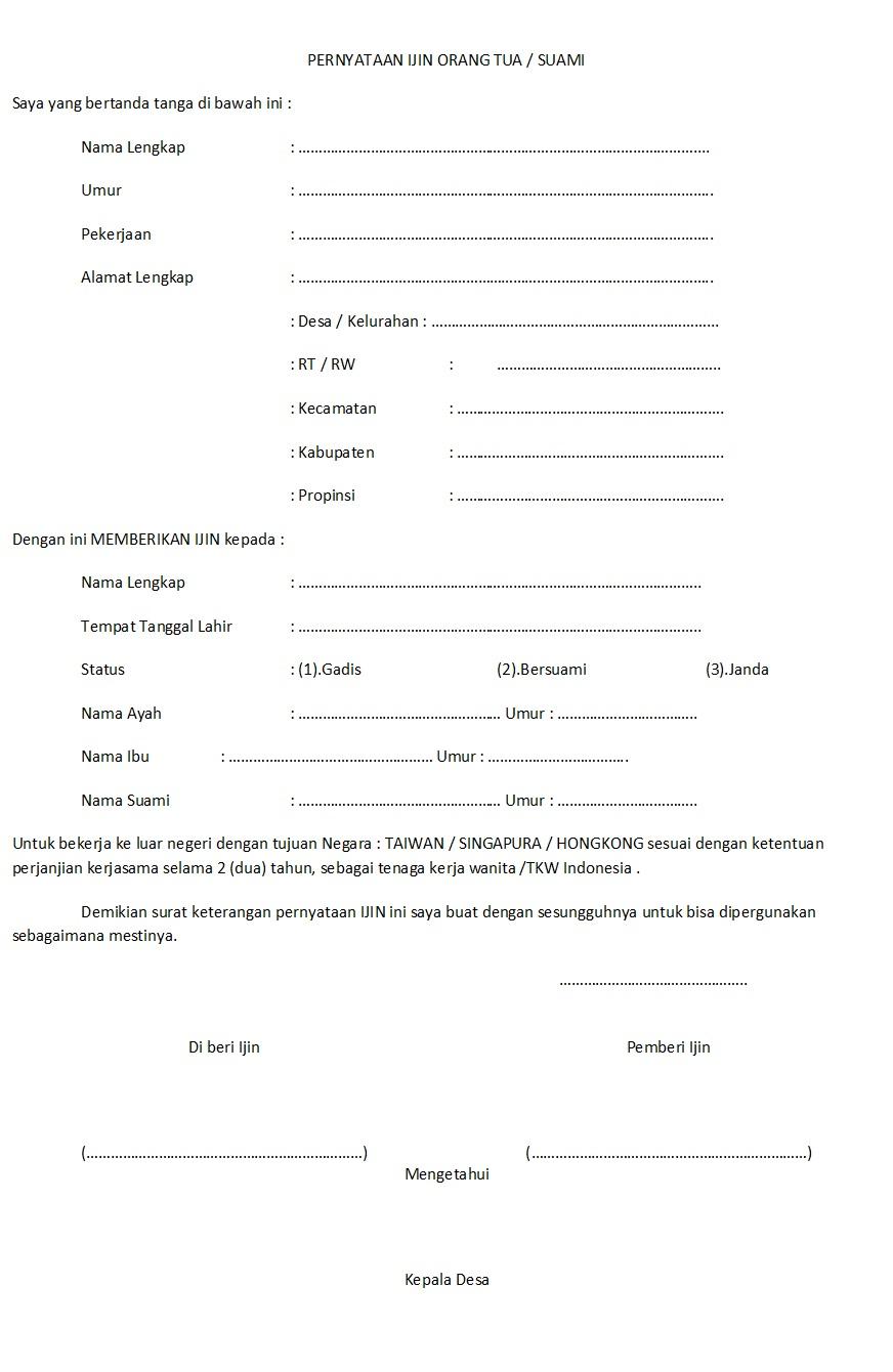 Surat Ijin Lowongan Kerja Keluar Negeri Pjtki Resmi