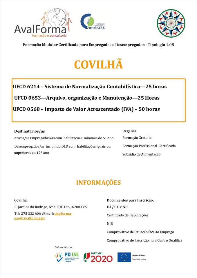 Formação modular subsidiada na Covilhã e Orjais