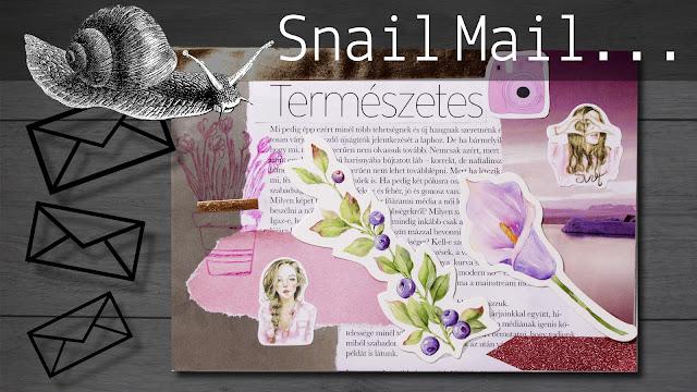 Snail mail - Boríték dekorálás