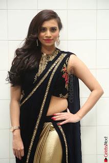 Priyanka Ramana in Beautiful Designer Black Saree At We Craft Elegance Expo Launch 024.JPG