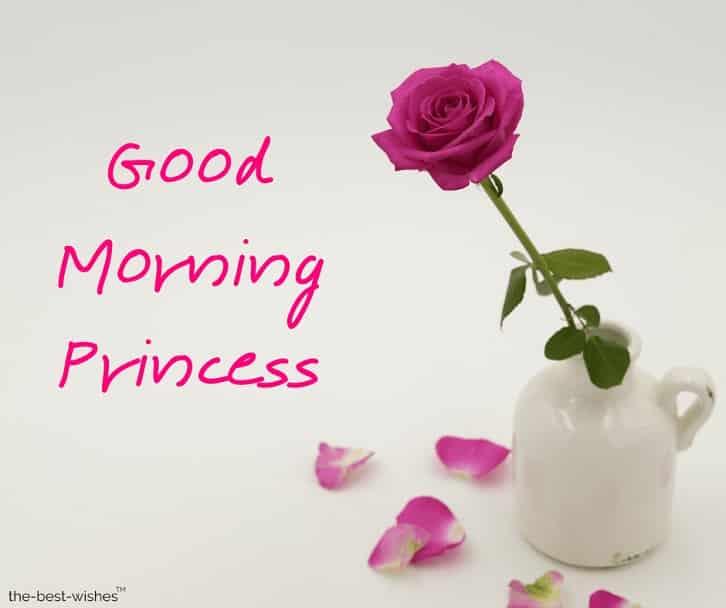 images of good morning princess