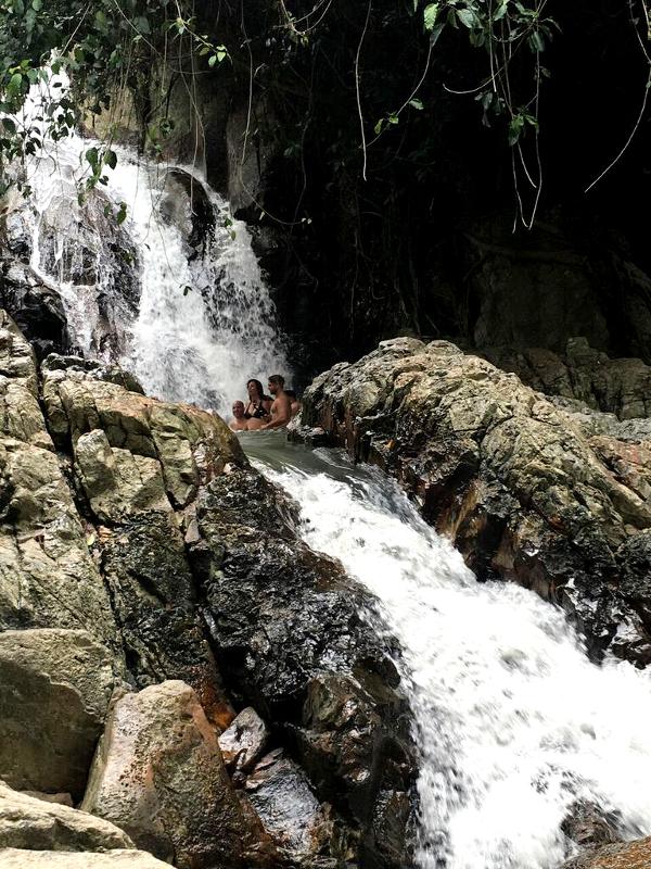 vattenfall, utflykt, koh samui, thailand