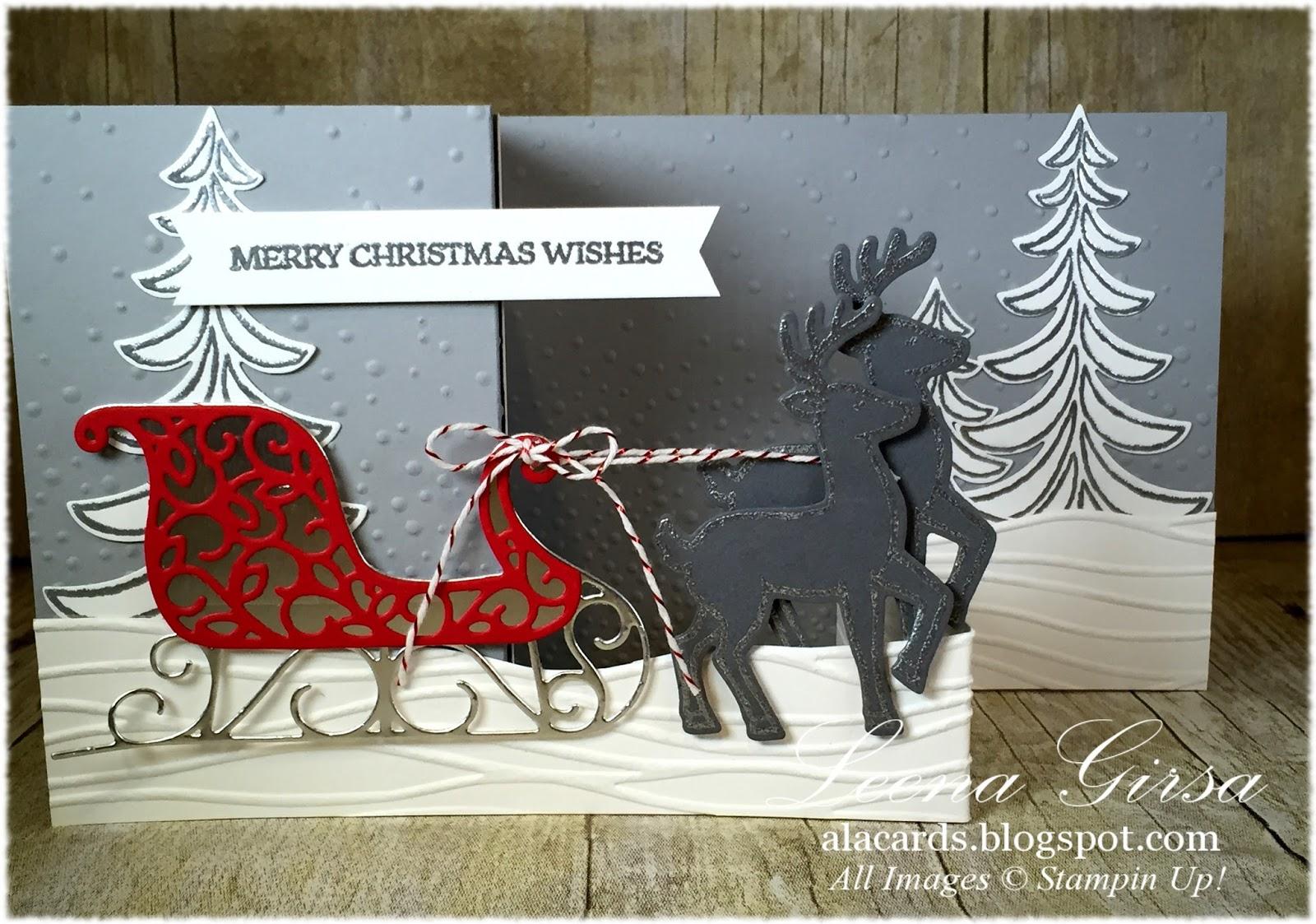 A La Cards: Santa\'s Sleigh Double Z-fold