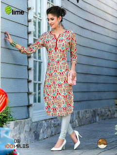 Lime 100 MILES KURTIS KURTA TOPS WHOLESALER LOWEST PRICE SURAT GUJARAT