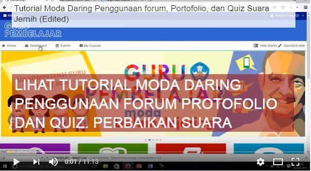 gambar Cara Pengunaan forum Guru Pembelajar portofolio dan quiz