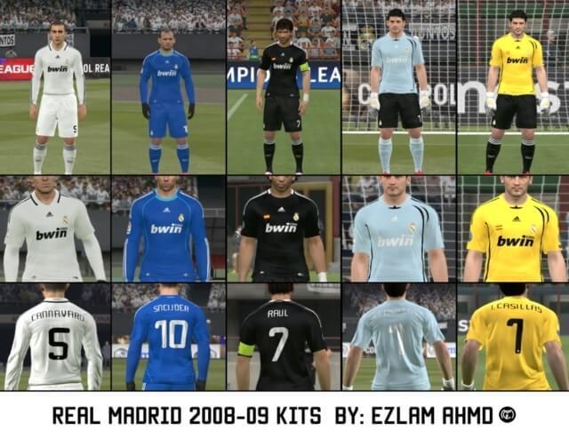 Real Madrid Season 2008-2009 Kits PES 2017