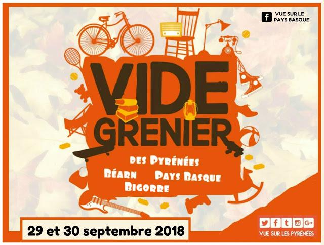 vide greniers Pyrénées #2 du 29 et 30 septembre 2018