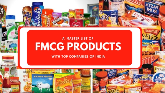 fmcg product list with companies