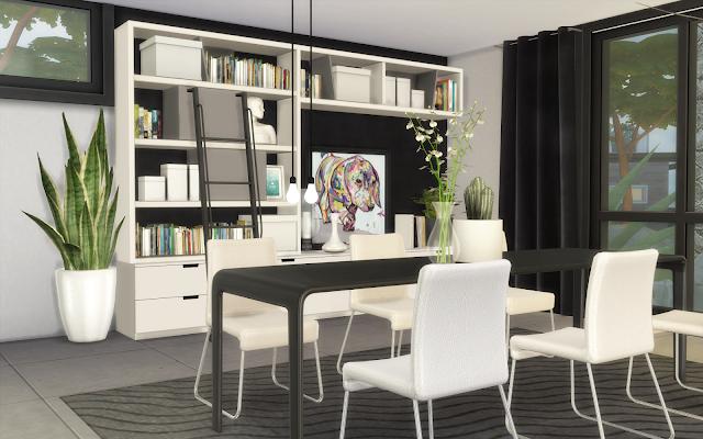 villa sims 4 salle à manger design