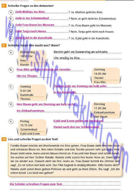 Almanca A1.2 Çıpa Yayınları Çalışma Kitabı Cevapları Sayfa 25
