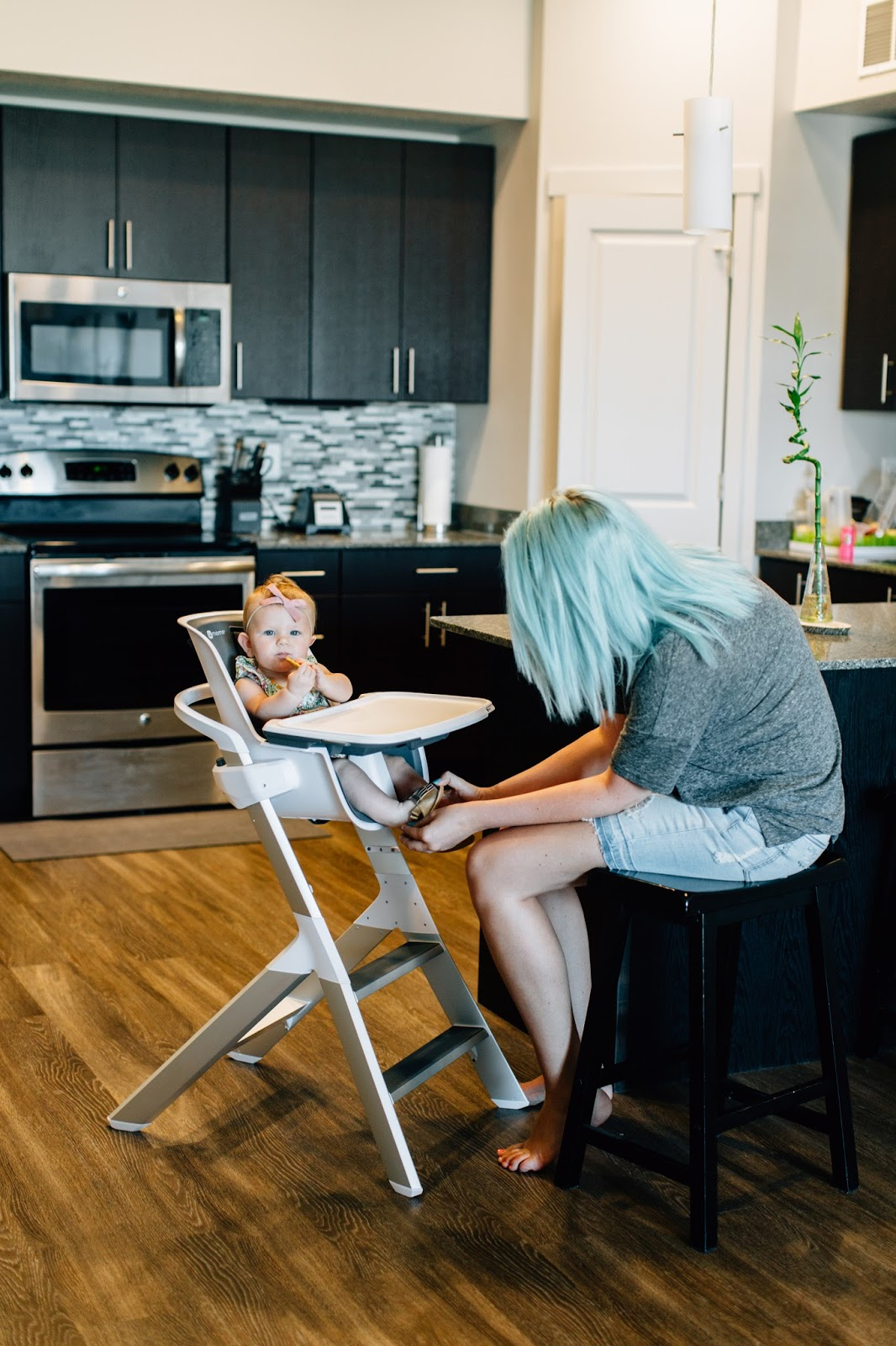 High Chair Lifestyle Blogger, Blue Hair