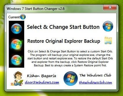 Mengganti Start Button pada Windows 7