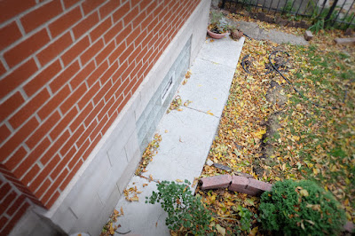 front concrete yard new