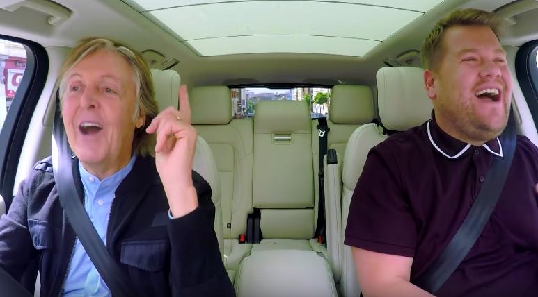 Paul McCartney, nuevo invitado del Carpool Karaoke de James Corden