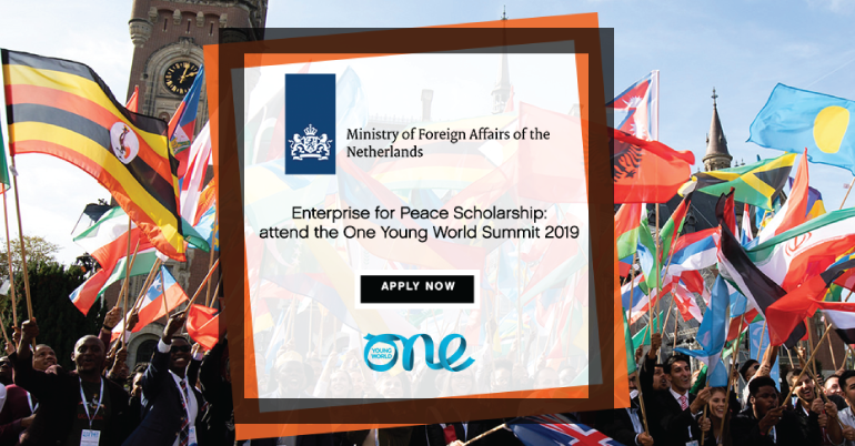 Dutch MFA Enterprise for Peace to Attend One Young World Scholarship