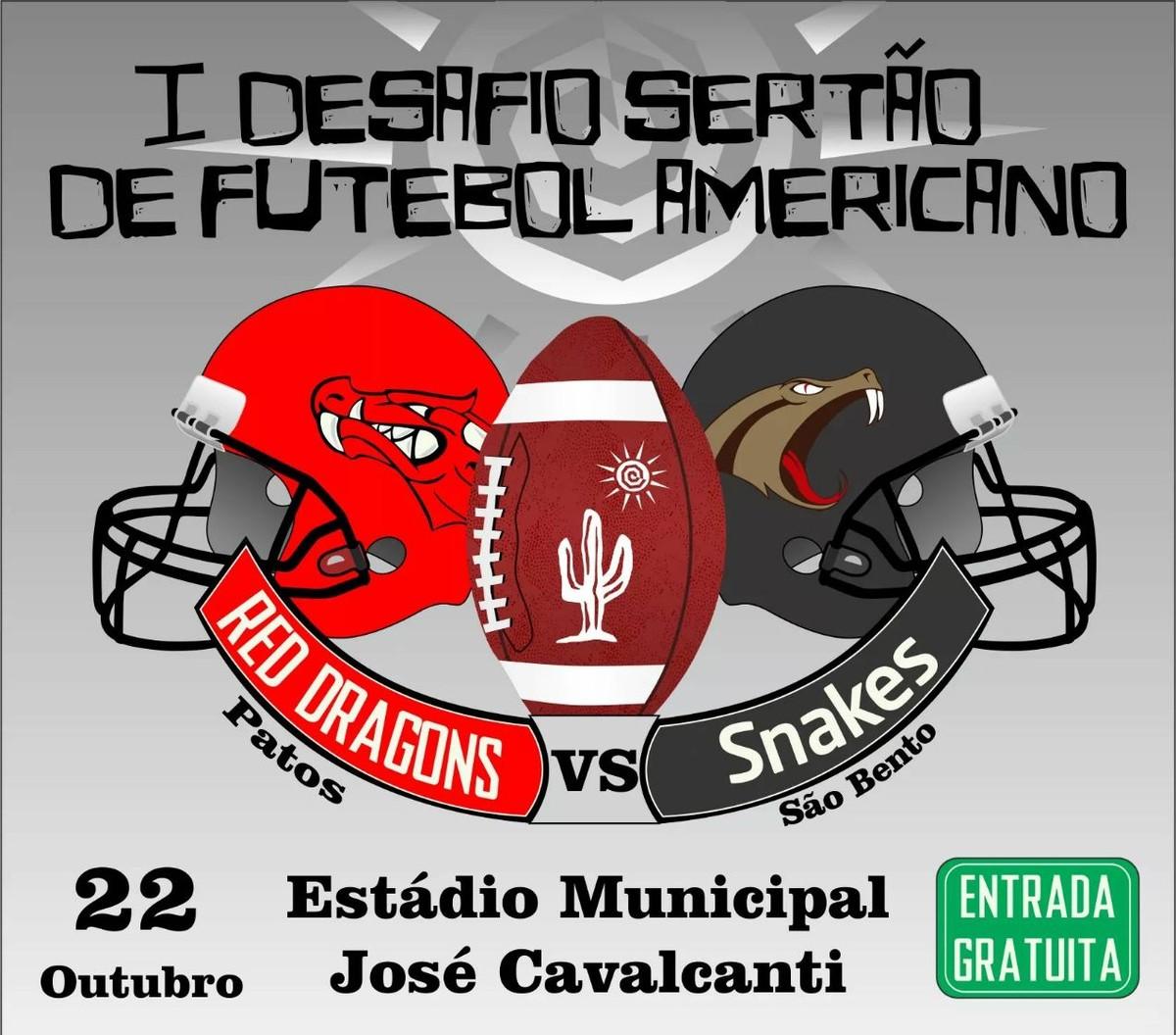 9195c56a9d Patos vai receber segundo jogo do Desafio do Sertão de Futebol Americano