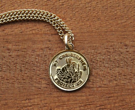 Hand-Crafted Jewelry From M Ference & Co.'s Timeless Engravings Saint Christopher pendant