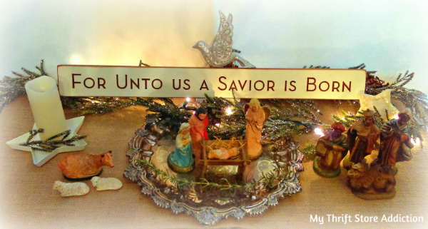 vintage heirloom nativity