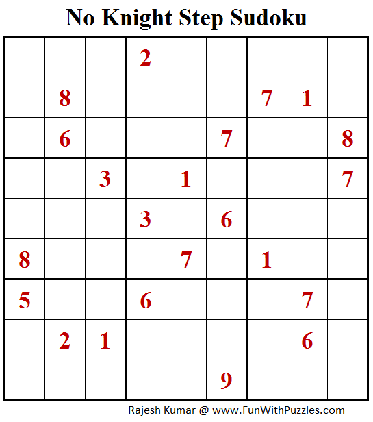 No Knight Step Sudoku (Daily Sudoku League #153)
