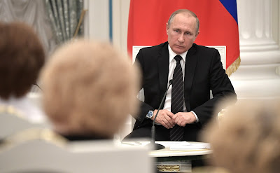 Vladimir Putin at the meeting with Civic Chamber members.