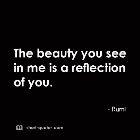 """""""The beauty you see in me is a reflection of you."""" - Rumi"""