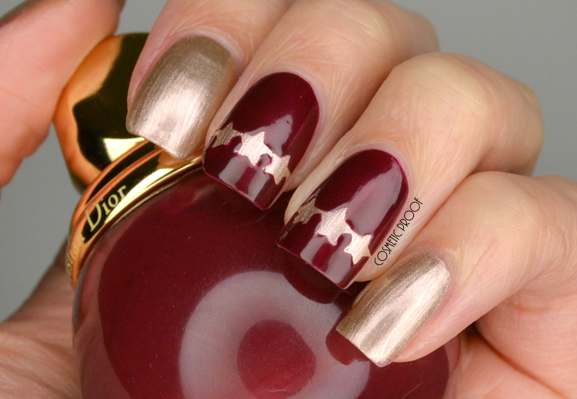 Nails Dior State Of Gold Seeing Stars With Mystere And Gris Or