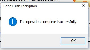 encryption operation completed
