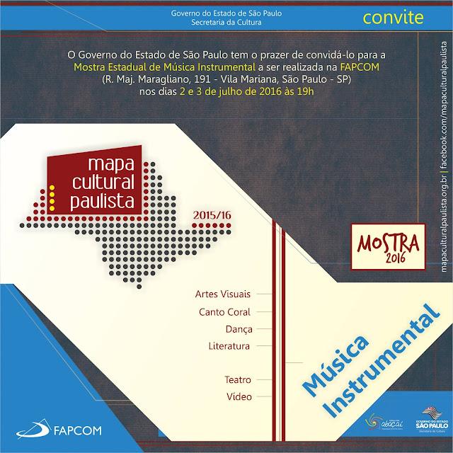Mostra da Fase Estadual do Mapa Cultural Paulista reúne o melhor da música instrumental do interior do estado