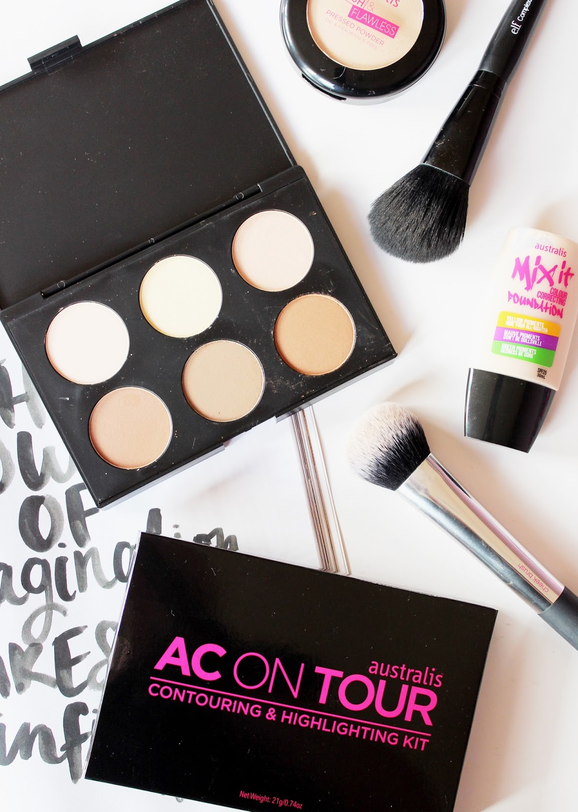 AUSTRALIS | AC On Tour Contouring + Highlighting Kit - Review + Swatches - CassandraMyee
