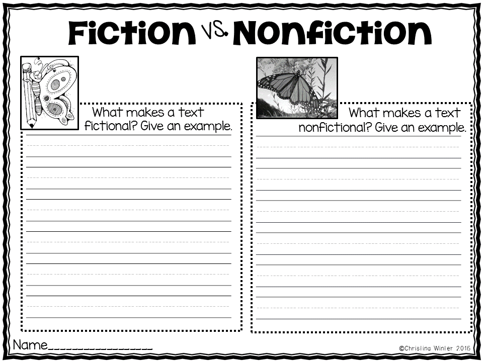 Fiction Vs Nonfiction Teaching Ideas Mrs Winter39s Bliss