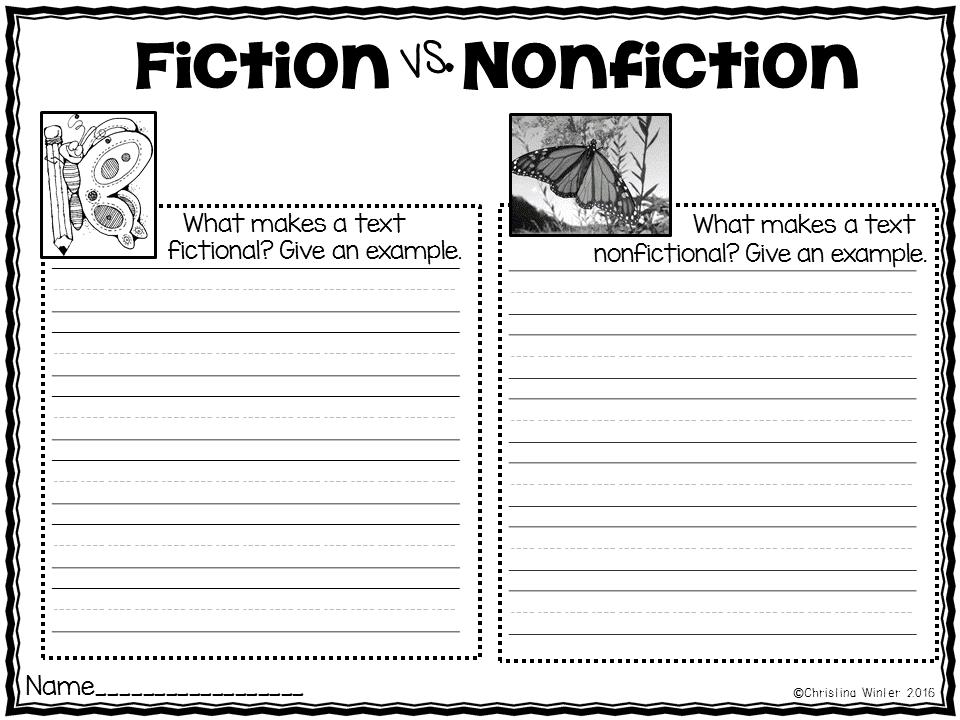 Fiction VS. Nonfiction Teaching Ideas - Mrs. Winter's Bliss