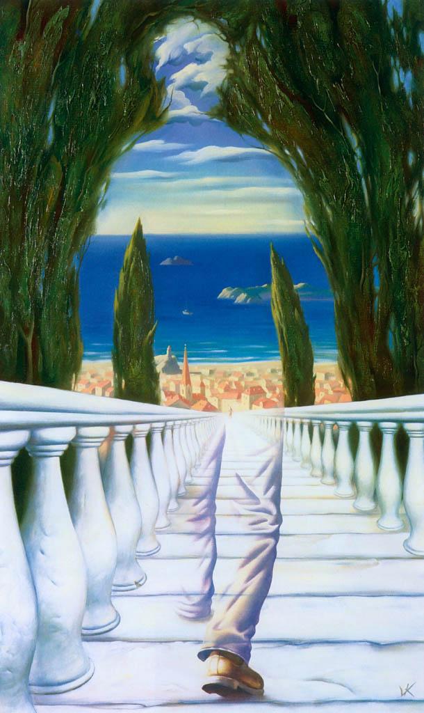 Vladimir Kush 1965   Russian Surrealist painter   The Metaphorical Realism