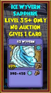 Ice Wyvern - Wizard101 Card-Giving Jewel Guide