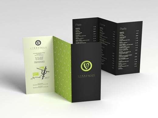 folder criativo preto e verde