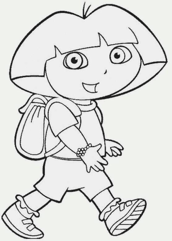 Maestra De Primaria Dibujos De Dora La Exploradora Para Colorear Y