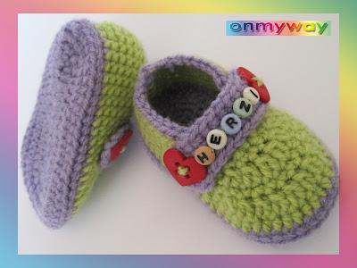Baby Schuhe häkeln, Anleitung, Häkeln