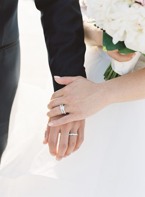 Jin and Christopher's wedding rings at their Bridgeview Yacht Club wedding