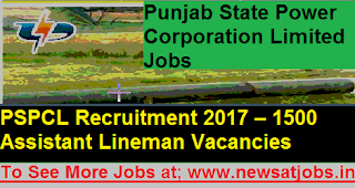 PSPCL-1500-Assistant-Lineman-Recruitment-2017