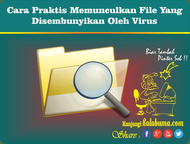 Cara Munculin File Yang Disembunyikan Oleh Virus di Flashdisk