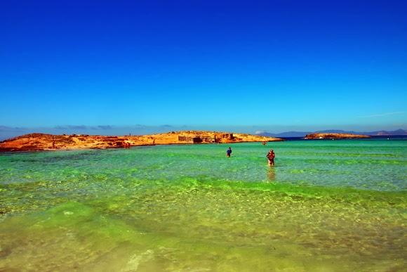 formentera turquoise sea