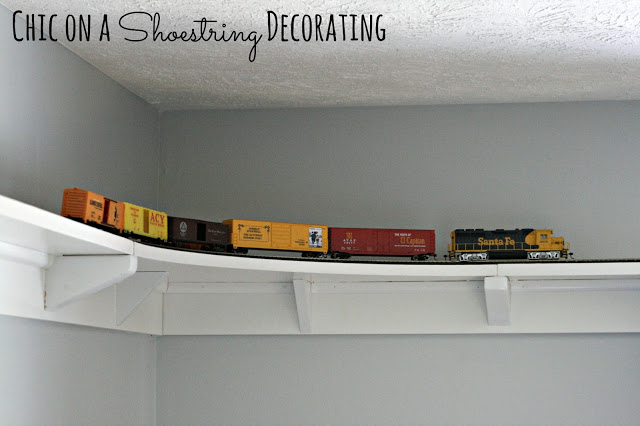 How To Build A Model Train Shelf Around Room Chic On Shoestring Decorating