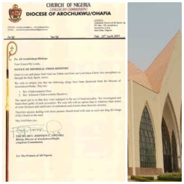 Two priests sacked  over homosexuality in Abia State