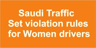 Women Drivers Traffic violation rules