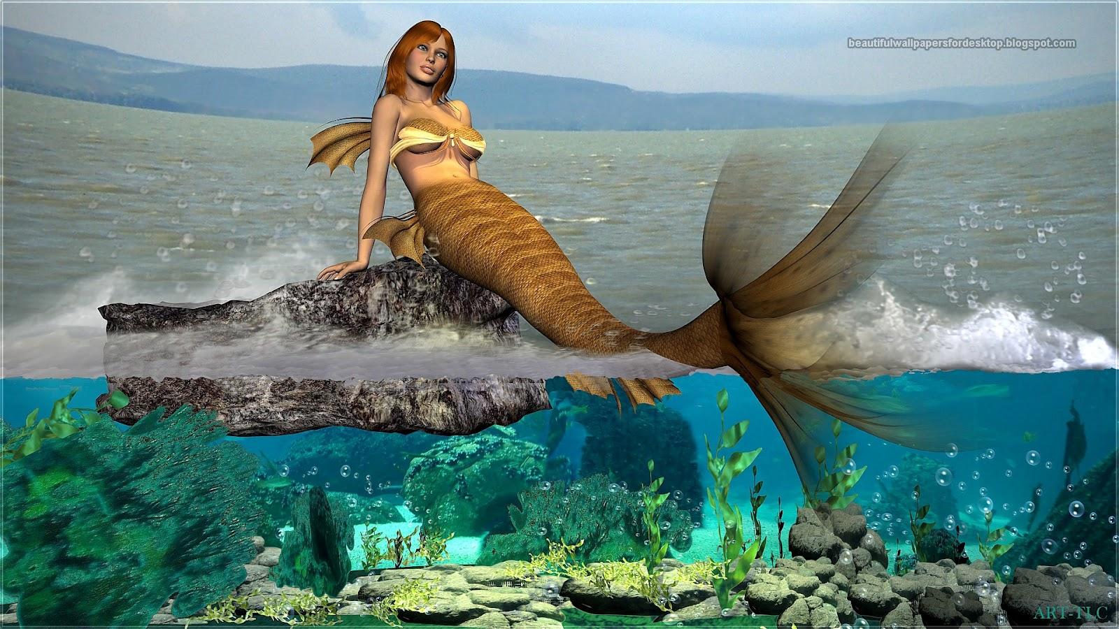 Modern 3d Wallpaper Texture Labels Mermaids Wallpapers