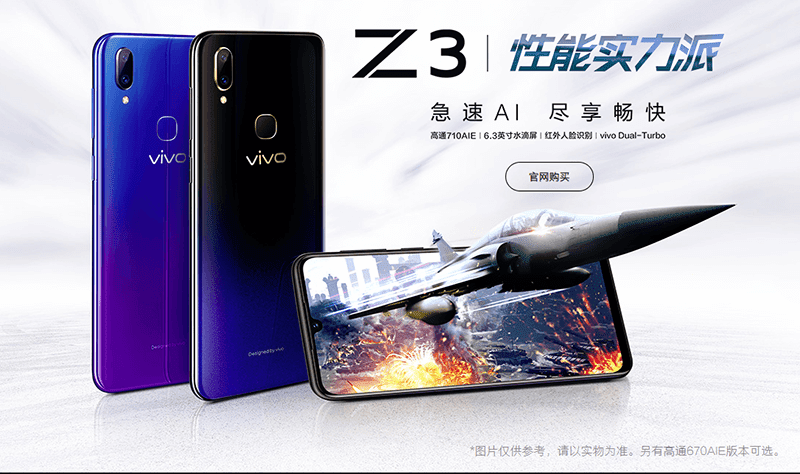 The new Vivo Z3 is now official
