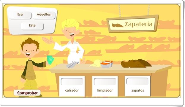 Los determinantes demostativos (Juego Lengua Española de Primaria)