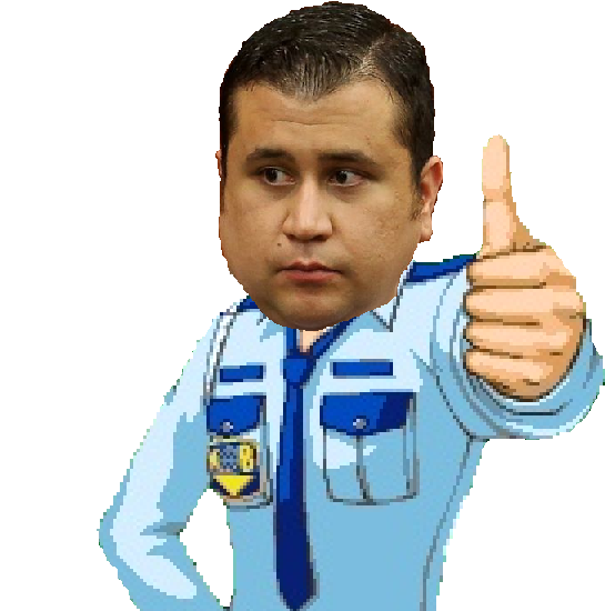 George Zimmerman as Larry Butz the security guard.
